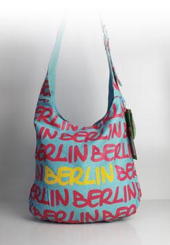 "Große Schultertasche Berlin DENIM ""blue"""