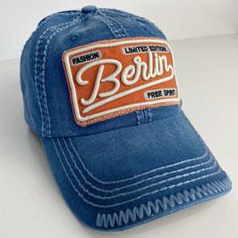 "Basecap Berlin JOHNNY ""blue-orange"""
