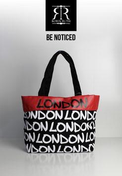 """Große Tasche London """"schwarz-weiß-rot"""""""