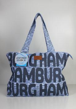 """Große Tasche Hamburg """"bold blue"""""""