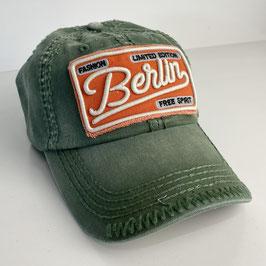 "Basecap Berlin JOHNNY ""green-orange"""