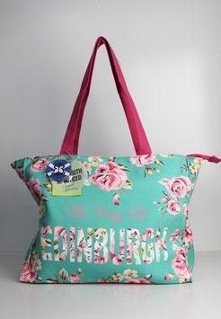 "Große Tasche Edinburgh ""flower mint"""