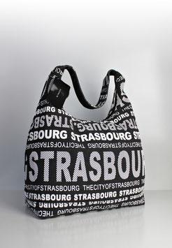 """Große Schultertasche Strasbourg """"urban style black"""""""