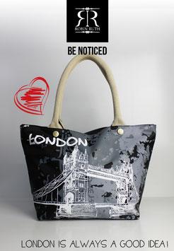 """Große Handtasche London """"black beat"""""""