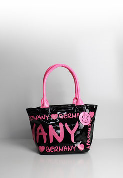 "Handtasche Germany ""megan black-fuchsia"""