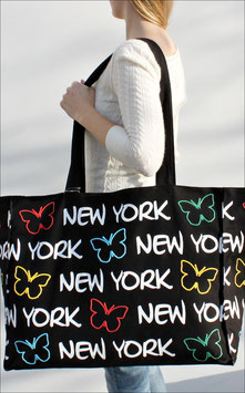 "Supersize Tasche New York ""Schmetterling"""