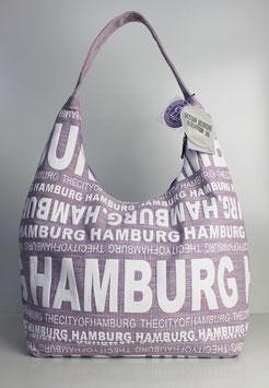 """Große Schultertasche Hamburg """"urban lavender style"""""""