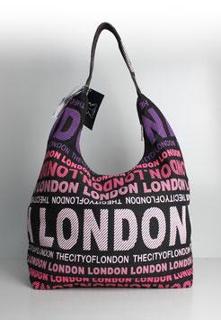 """Große Schultertasche London """"urban style pink"""""""