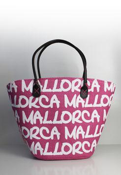 """Große Tasche Mallorca """"paper straw pink"""""""