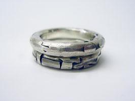 Silberringe mit Struktur