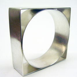 Armreif, Silber, Quadrat