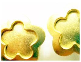 Ohrstecker, 750er Gold, Blumen Design
