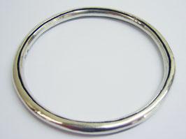 Silberarmreif, rund, hohl geschmiedet