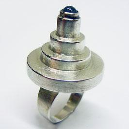 Ausgefallener Silberring mit Turmalin