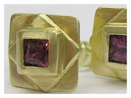 Ohrstecker Gold mit Rubellit