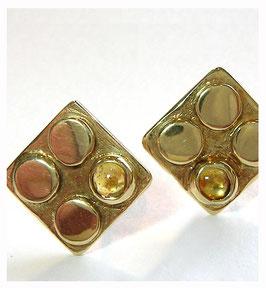 Ohrstecker Gold mit Citrin