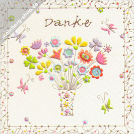 Danke Blumenstrauß Minikarte