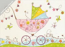 Kinderwagen Herzlich Willkommen