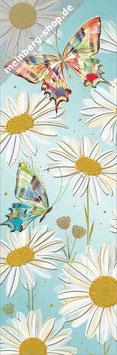 Margeriten und Schmetterlinge Lesezeichen