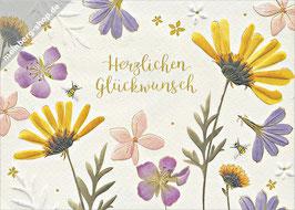Herzlichen Glückwunsch Blüten