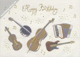 Musikinstrumente Happy Birthday