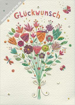 Glückwunsch Blumenstrauß