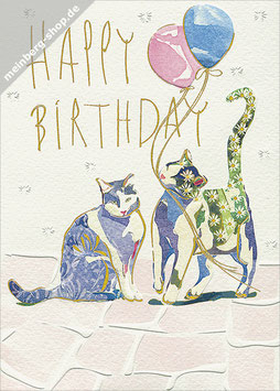 Katzen Happy Birthday