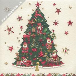Tannenbaum dekoriert Minikarte