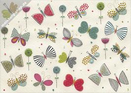 Viele Schmetterlinge