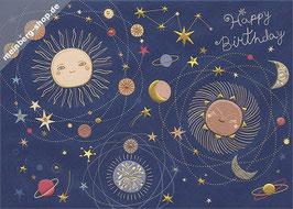 Weltraum Happy Birthday