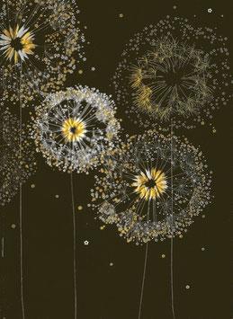 Notizheft A5 Pusteblumen schwarz