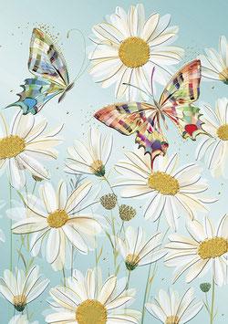 Notizheft A5 Margeriten & Schmetterlinge