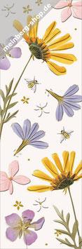 Blumen und Bienen Lesezeichen