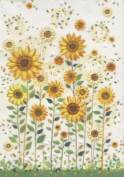 Notizheft A5 Sonnenblumen