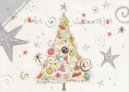 Weihnachtsbaum mit Sternen