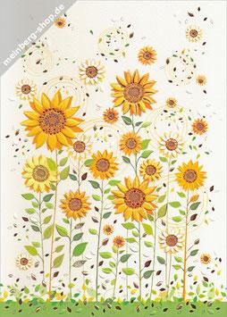 Sonnenblumen groß