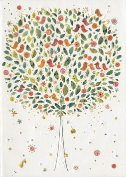 Notizheft A5 Baum mit Vögel