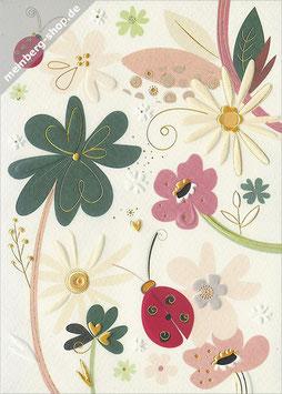 Marienkäfer und Blumen