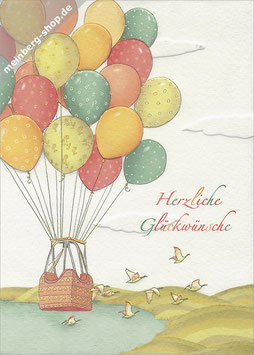 Heißluftballons mit Korb