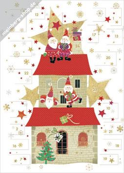 Weihnachtsmänner auf Haus