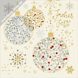 Weihnachtskugeln Minikarte