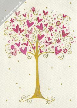 Baum mit Herzen