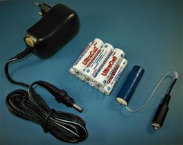 AA Mignon Batterie - Netzteil Adapter - Universal Set 3-12V
