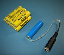 AAA Micron Batterie - Netzteil Adapter - Set 3-12V