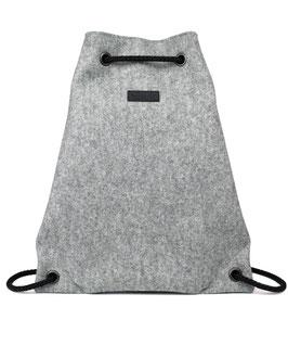 heyholi® Turnbeutel aus Filz, Rucksack - Gym Bag mit Kordelzug