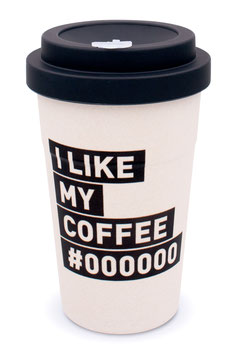 """heyholi® Woodcup """"I like my coffee"""" Bambusbecher"""