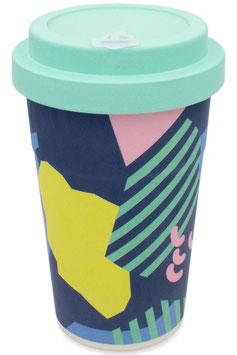 """heyholi® Woodcup """"Back to the 80s"""" Bambusbecher"""