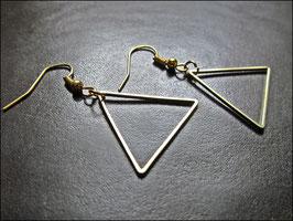 Kleines Dreieck Ohrringe, golden