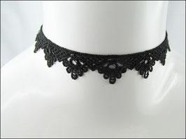 Einfaches Spitzen Halsband schwarz Héloise