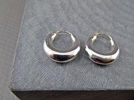 925er Silber Creolen bauchig 1.2 cm Durchmesser